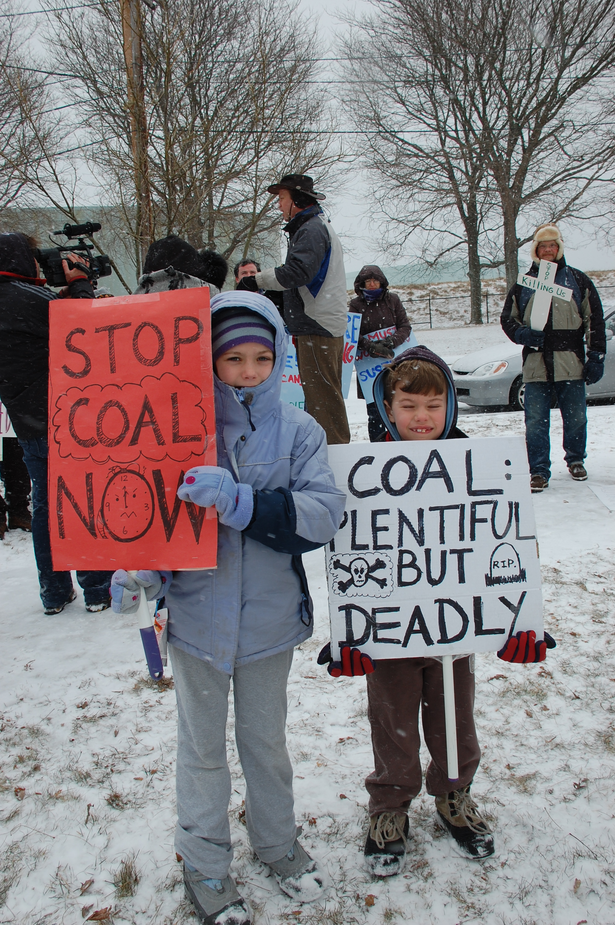 Protest again coal fired power plants, Salem, March 1, 2009