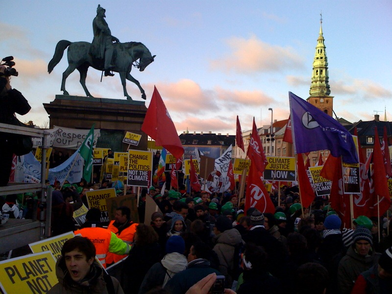 Rally in Copenhagen for Climate change